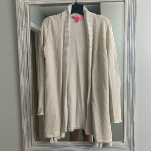 Lilly Pulitzer gold cardigan